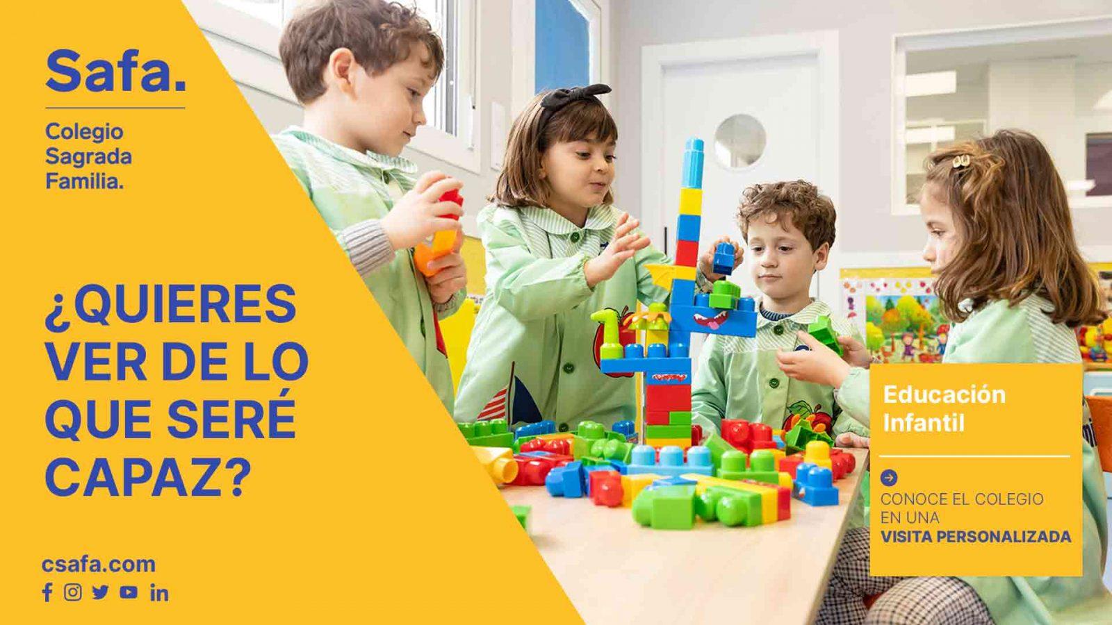 Campaña curso 21-22 alumnos jugando con construcciones