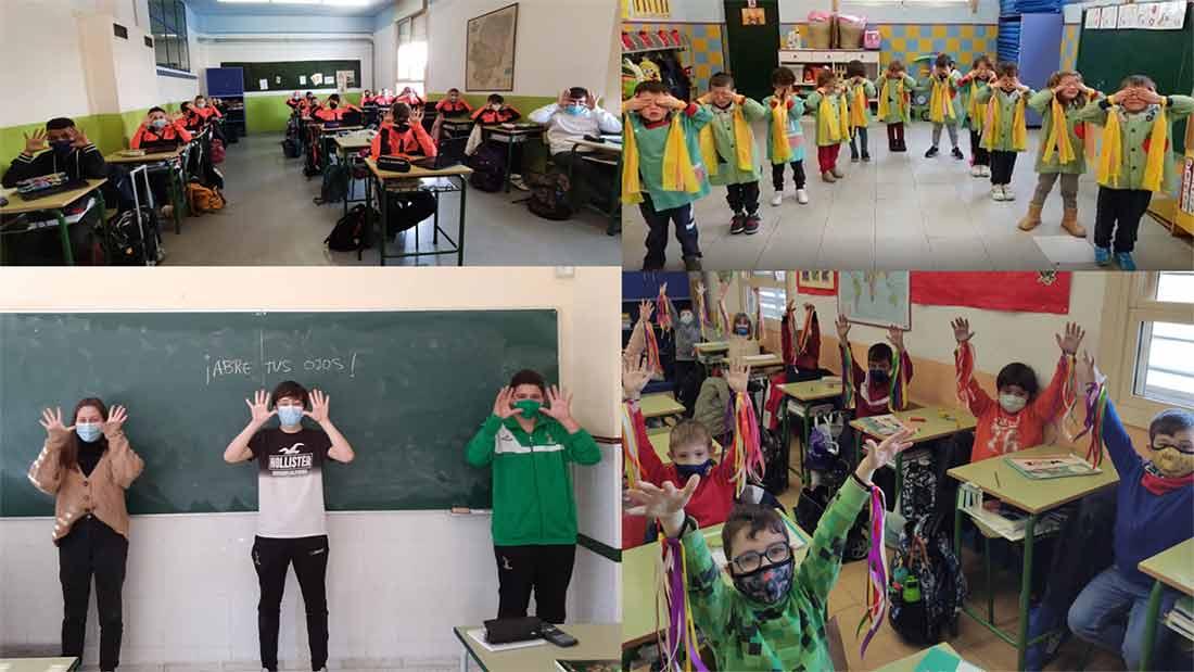 Los alumnos y alumnas celebran cada uno en su clase el día DENIP