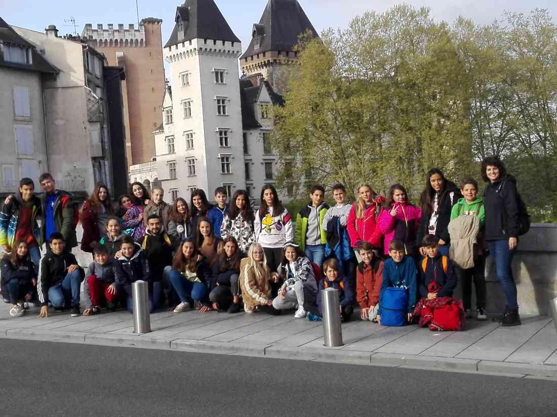 alumnos del colegio concertado SAFA en el intercambio a Francia