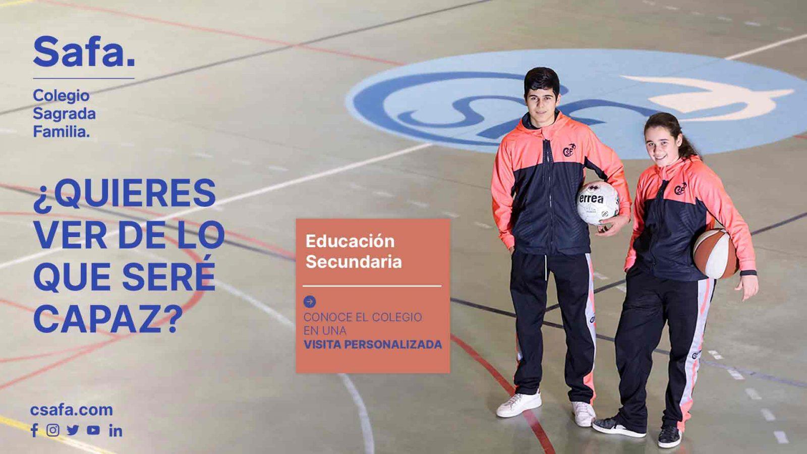 Campaña curso 21-22 alumnos en el polideportivo haciendo deporte